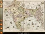 Around the World in Eighty Days: Phileas Fogg iPad India map - objects