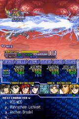 Super Robot Taisen OG Saga: Endless Frontier Nintendo DS KOS-MOS hitting an enemy with a blast of energy