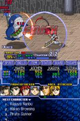 Super Robot Taisen OG Saga: Endless Frontier Nintendo DS Kaguya attacking and finishing an enemy