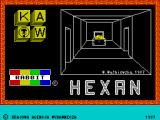 Hexan ZX Spectrum Title screen
