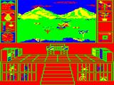Biosphere TRS-80 CoCo The window view in the alternative color mode