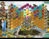 "Heroes of Hellas 3: Athens Windows In this Classic level, two keys are at the top left and right. The darker tiles in the bottom center are called ""black stones"" and must be broken to unlock them."