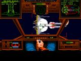 Wing Commander 1+2 Windows WC1 - Closing in on the large enemy ship, but I'm out of missiles.