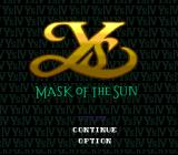 Ys IV: Mask of the Sun SNES Title screen