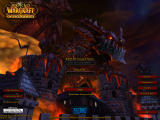 World of Warcraft: Cataclysm Windows The login screen features Deathwing attacking Stormwind City.