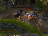 World of Warcraft: Cataclysm Windows Dragonmaw orcs fighting Wildhammer dwarves.