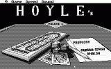 Hoyle: Official Book of Games - Volume 1 Atari ST Title screen in monochrome (high resolution)