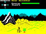 Shadow of the Unicorn ZX Spectrum Exploring with the Wizard Avarath