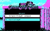 Stunt Track Racer DOS Choosing single or multiplayer game (CGA).