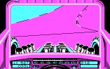 Stunt Track Racer DOS Beware! A dangerous curve (CGA).