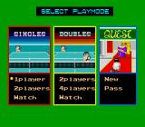 World Court Tennis TurboGrafx-16 Main Menu