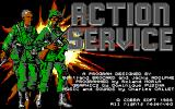 "Combat Course DOS ""Action Service"" title screen (EGA)."