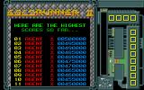 Goldrunner II Atari ST Title and beginning of high score table