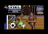 4 Soccer Simulators Commodore 64 Title screen for Indoor Soccer