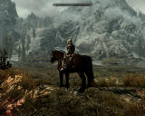 The Elder Scrolls V: Skyrim Windows You think you can climb that mountain, horsie?..