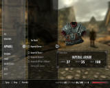 The Elder Scrolls V: Skyrim Windows The menu is weirdly designed, but at least it has full-size graphical items