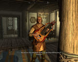 The Elder Scrolls V: Skyrim Windows Visiting a tavern and listening to a folk song performed by the local bard