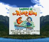 Legend of the River King GB Game Boy Title screen (Super Game Boy)