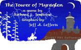 Tower of Myraglen Apple IIgs A dark tower looms ominous amidst the lightning strikes