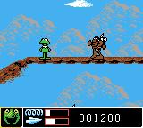 Jim Henson's Muppets Game Boy Color Playing the second 1850 level with Indians.