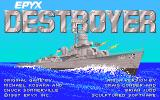 Destroyer Amiga Title screen.