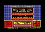 Android One: The Reactor Run Amstrad CPC Title screen and main menu