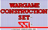 Wargame Construction Set Amiga Title screen.