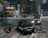 Saints Row: The Third Windows Driving a funny-looking car, creating a traffic jam