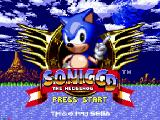 Sonic CD SEGA CD Title Screen