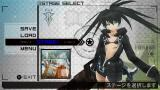 Black Rock Shooter: The Game PSP Between-mission menu.