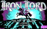 Iron Lord DOS Title screen (CGA).