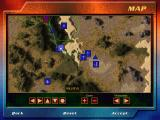 F-22 Lightning 3 Windows The campaign map view. This too allows the player to zoom in and out and as the mouse cursor moves over an icon it's name is displayed