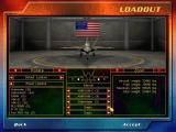 F-22 Lightning 3 Windows The aircraft loadout screen in campaign mode