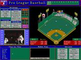 Pro League Baseball DOS Main game view screen.