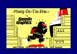 Monty on the Run Amstrad CPC Loading screen