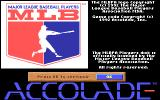 HardBall III: MLBPA Players Disk DOS Installer opening title screen.