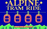 Alpine Tram Ride DOS Title screen (CGA)