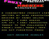 Fruit Machine Simulator BBC Micro Title and credits