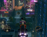 Saints Row: The Third Windows Flying motorcycle, beautiful pink-purple neon-lit city... life is good!