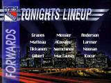 NHL 95 DOS Tonight's lineup
