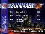 NHL 95 DOS Period summary