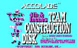 4th & Inches Team Construction Disk DOS Title (CGA)