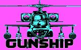 Gunship DOS Title screen (CGA / version 429.05 only with intro)