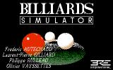 Billiards Simulator Atari ST Title screen