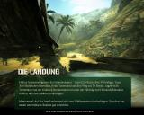 Code of Honor 2: Conspiracy Island Windows Mission description on loading screen (German version).