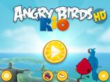 Angry Birds: Rio iPad Title screen and menu