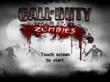 Call of Duty: World at War - Zombies iPad Title screen