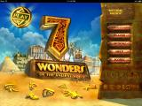 7 Wonders of the Ancient World iPad Main menu