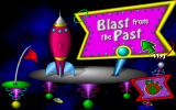 Fuzzy's World of Miniature Space Golf DOS Title Screen of the second course, Blast from the Past...