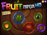 Fruit Ninja iPad Main Menu